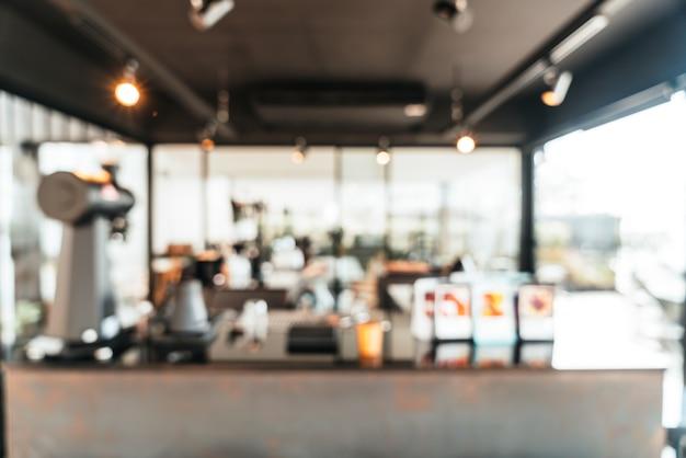 Abstract vervagen coffeeshop café en restaurant voor