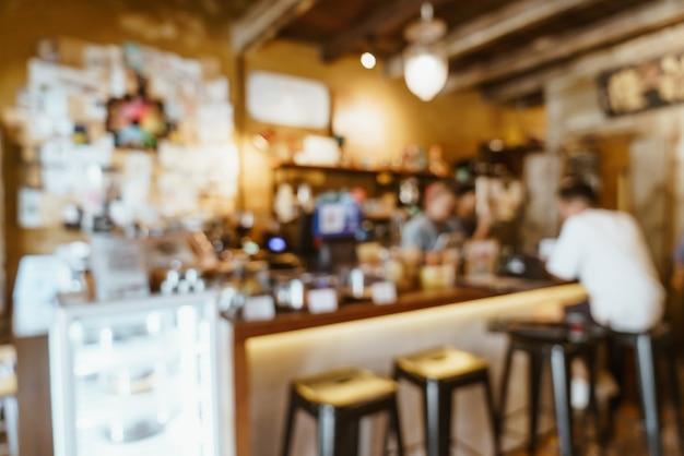 Abstract vervagen coffeeshop café en restaurant