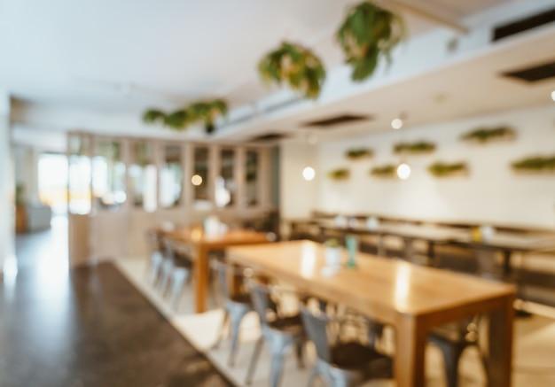 Abstract vervagen en defocused in café restaurant voor achtergrond