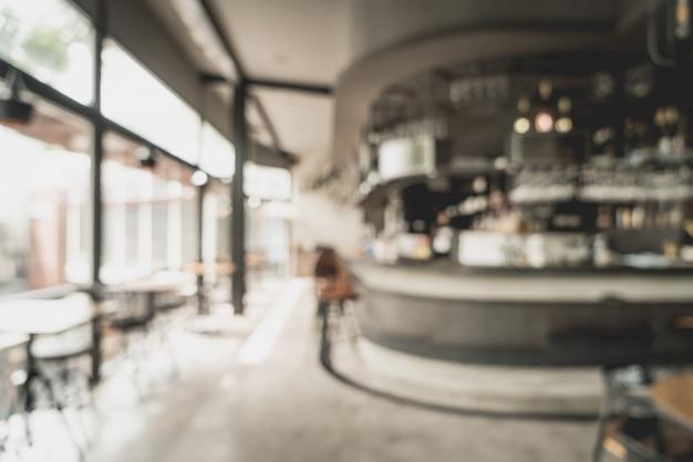 Abstract vervagen en defocused in restaurant en café voor achtergrond