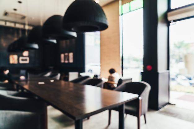 Abstract vervagen en intreepupil coffeeshop en café-restaurant
