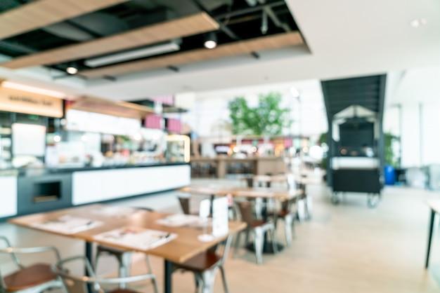 Abstract vervagen en intreepupil food court center in winkelcentrum