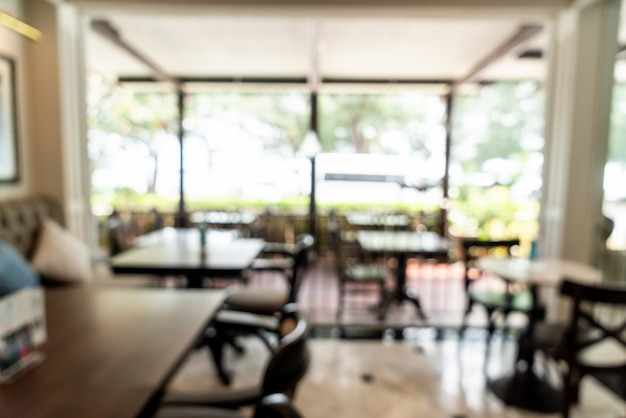 Abstract vervagen in coffeeshop en café-restaurant voor