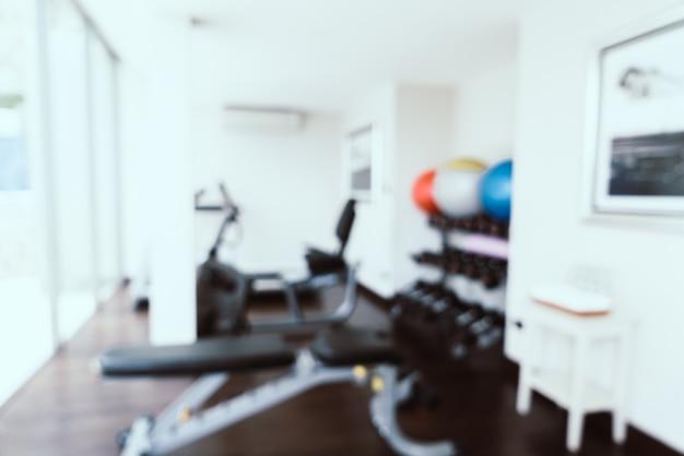 Abstract vervagen in de fitnessruimte