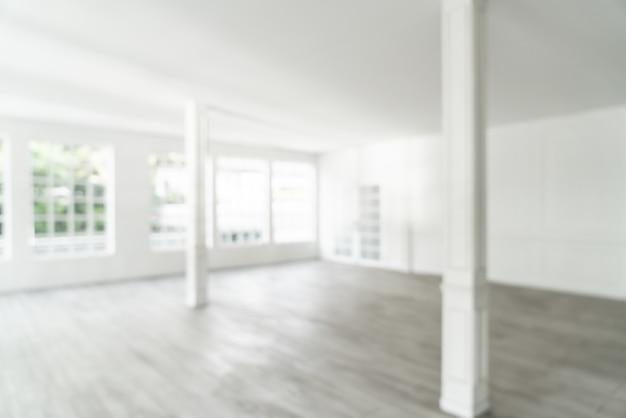 Abstract vervagen lege ruimte met glazen raam