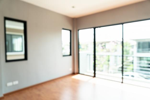 Abstract vervagen lege ruimte met raam en deur in huis