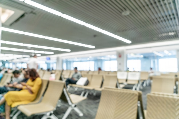 Abstract vervagen luchthaven voor achtergrond