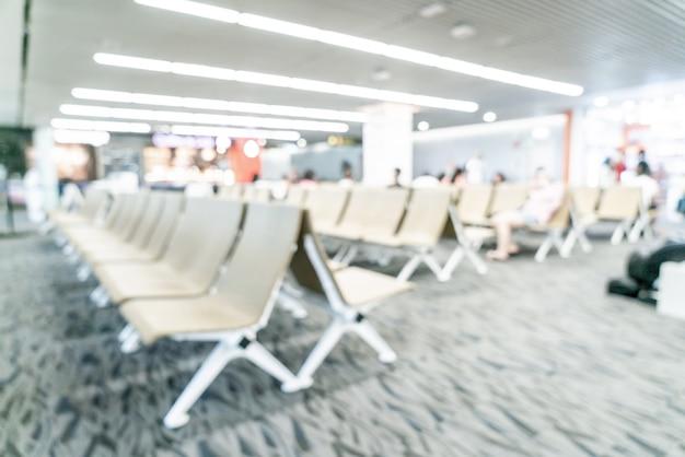 Abstract vervagen luchthaven