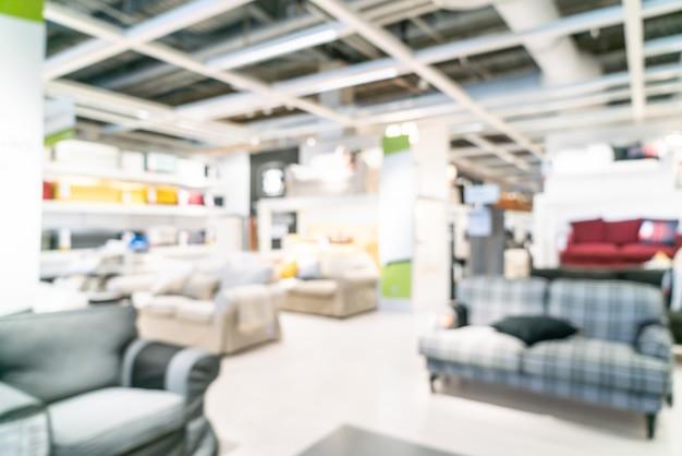 Abstract vervagen meubels decoratie en magazijn winkel interieur