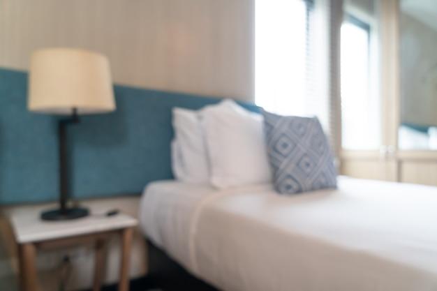 Abstract vervagen prachtige luxe hotel slaapkamer interieur voor achtergrond