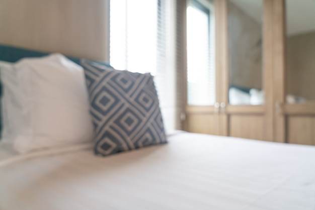 Abstract vervagen prachtige luxe hotel slaapkamer interieur Premium Foto