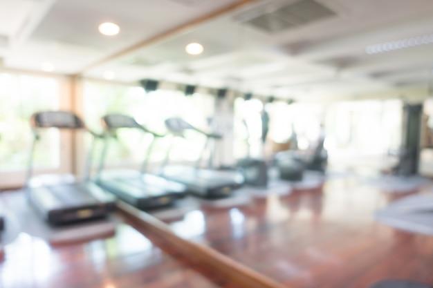 Abstract vervagen sportschool en fitnessruimte interieur