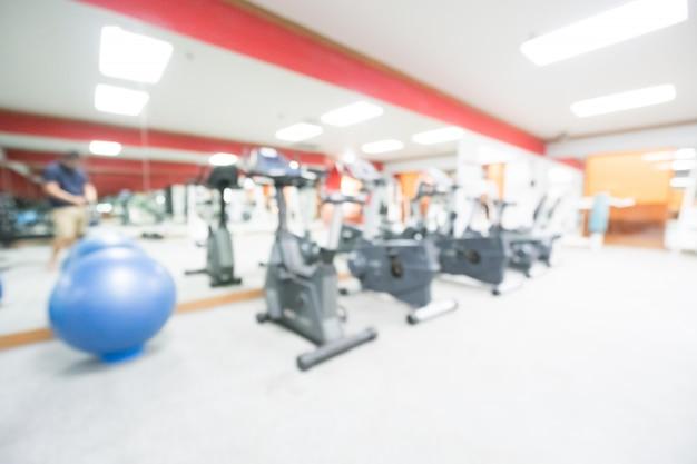 Abstract vervagen sportschool en fitnessruimte