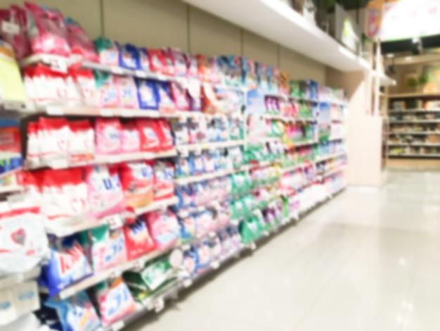 Abstract vervagen supermarkt