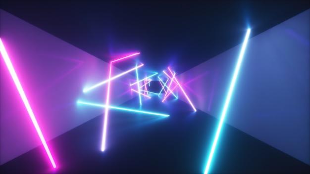 Abstract vliegen in futuristische gang