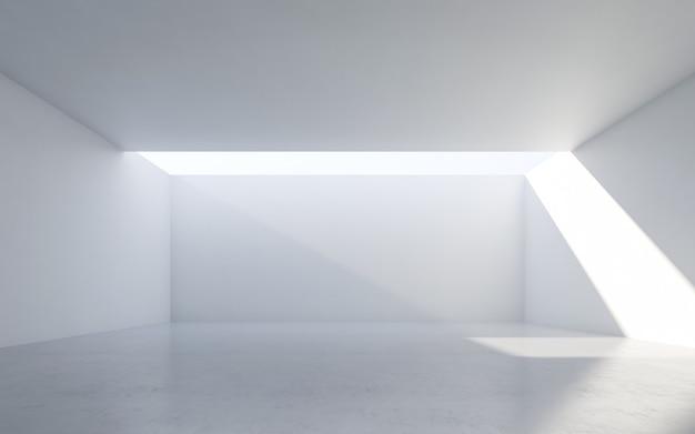 Abstract wit binnenland. lege ruimte met witte muren.