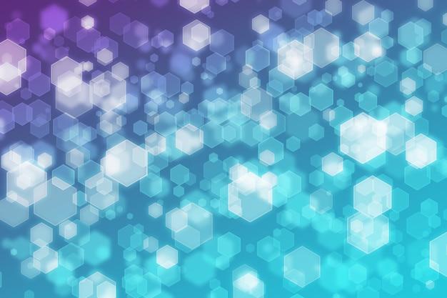 Abstract zeshoek achtergrond wit paars blauw verloop