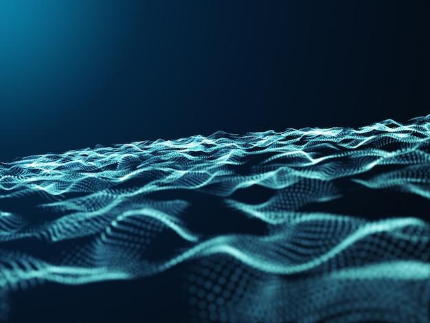 Abstracte 3d-deeltjes met verplaatsingseffect