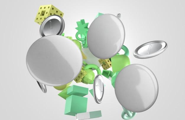 Abstracte 3d exemplaarruimtespelden