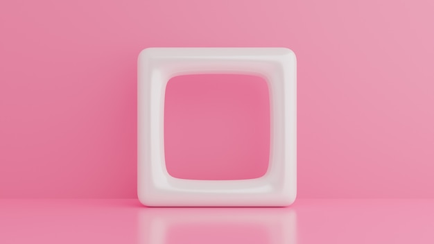 Abstracte 3d render, minimalistisch, modern grafisch ontwerp