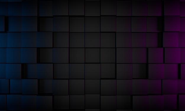 Abstracte 3d render, moderne geometrische achtergrond, grafisch ontwerp