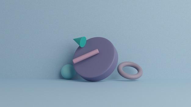 Abstracte 3d render, moderne geometrische