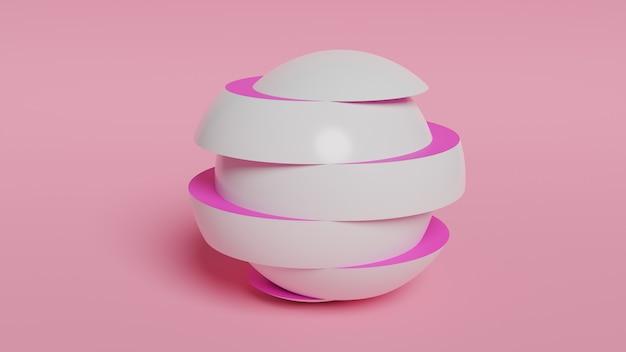 Abstracte 3d render, moderne sfeer, grafisch ontwerp