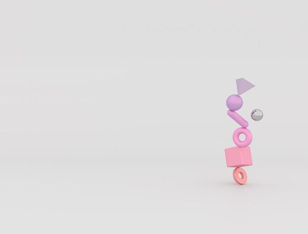 Abstracte 3d samenstellingsachtergrond