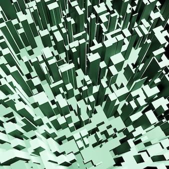 Abstracte 3d vierkante pixel geometrische achtergrond, kubuspatroon of bloktextuur voor architectuurontwerp