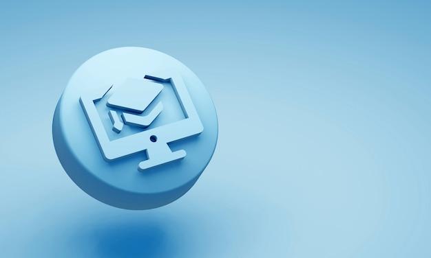 Abstracte 3d-weergave van een vliegende kubus. sci fi vorm in lege ruimte. futuristische achtergrond.