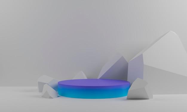 Abstracte 3d-weergave van geometrische steen en rots vorm achtergrond.jpg