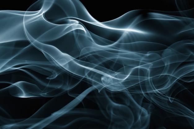 Abstracte achtergrond, blauw rooktextuur filmisch ontwerp