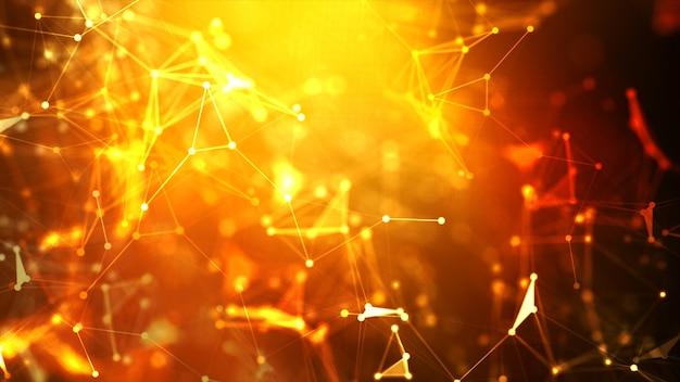 Abstracte achtergrond dot en verbind lijn voor futuristische cybertechnologie