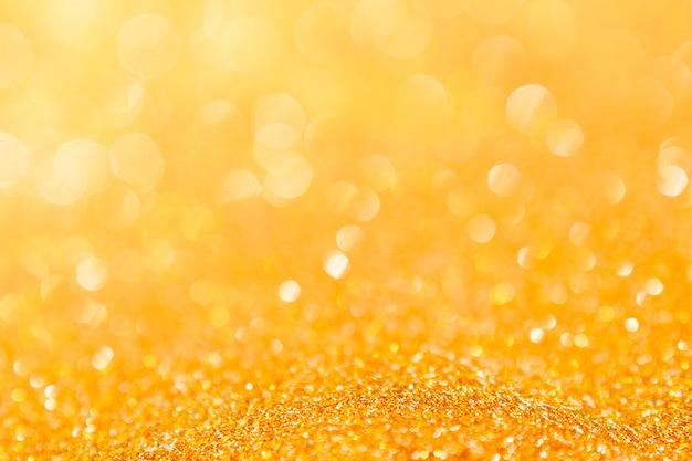 Abstracte achtergrond gouden licht bokeh kerst vakantie