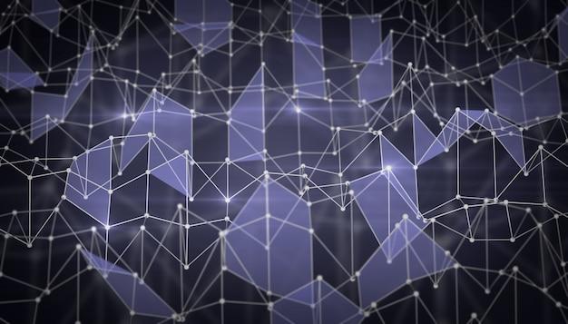 Abstracte achtergrond in de vorm van een netwerk van driehoeken