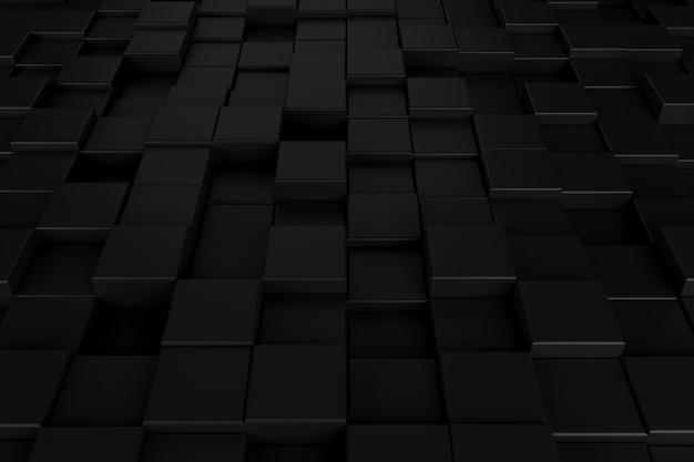 Abstracte achtergrond met donker concept. 3d-weergave.