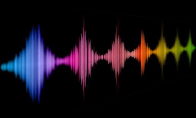 Abstracte achtergrond met geluidsgolven ontwerp