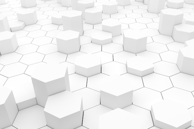 Abstracte achtergrond met geometrische zeshoeken