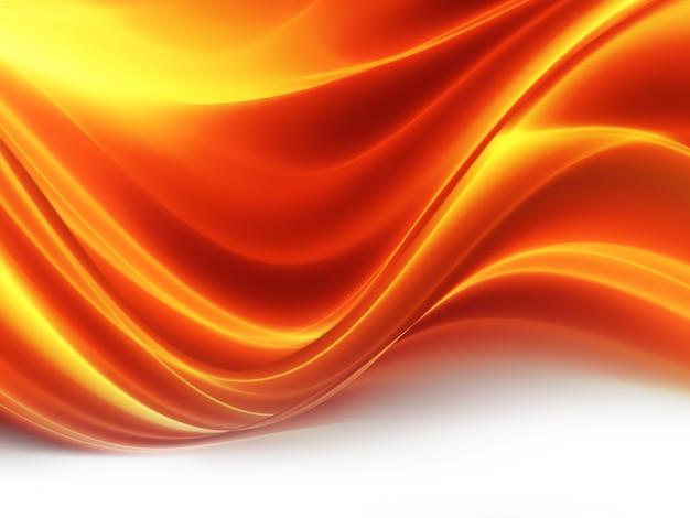 Abstracte achtergrond met gloeiende golf van vuur