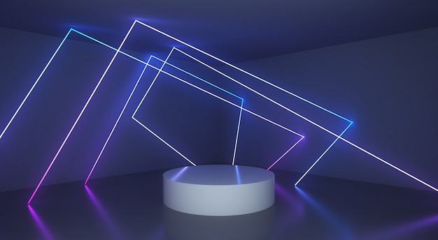 Abstracte achtergrond met gloeiende lichte lijn
