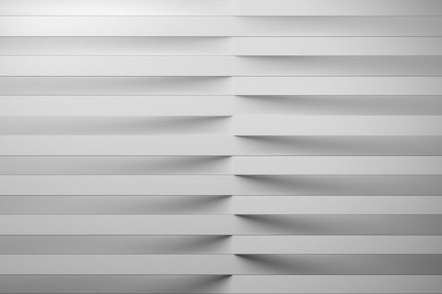 Abstracte achtergrond met horizontale herhalende lijnen van witte gevouwen papier strepen.