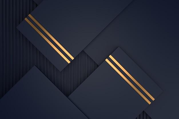 Abstracte achtergrond met luxe concepten. 3d-weergave.