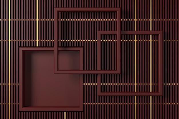 Abstracte achtergrond met luxe design. 3d-weergave.