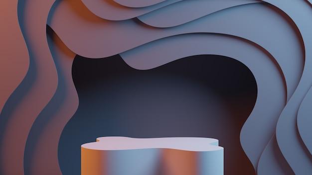 Abstracte achtergrond met podium. 3d-rendering.
