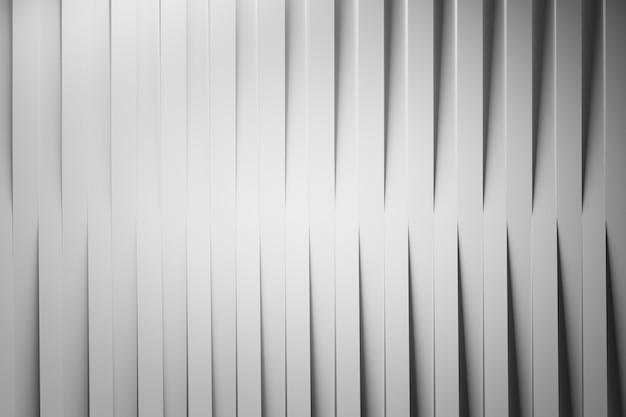 Abstracte achtergrond met verticale herhalende lijnen van witte gevouwen papier strepen met schaduwen.