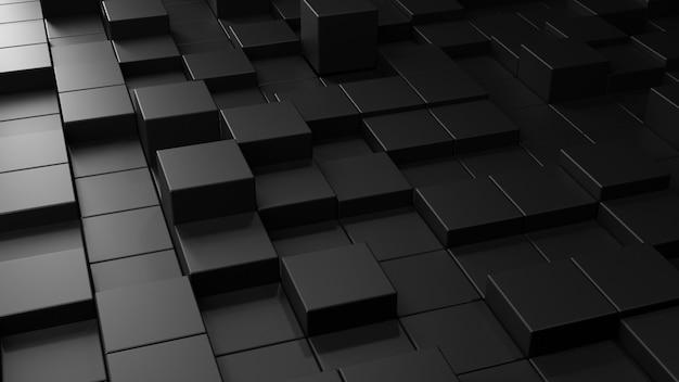 Abstracte achtergrond met zwart patroon Premium Foto