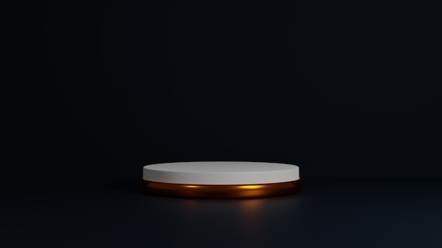 Abstracte achtergrond minimale scène, cilindergoud