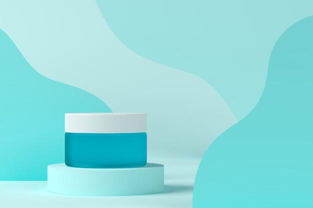 Abstracte achtergrond, mock-up scène met podium voor productvertoning. 3d-weergave
