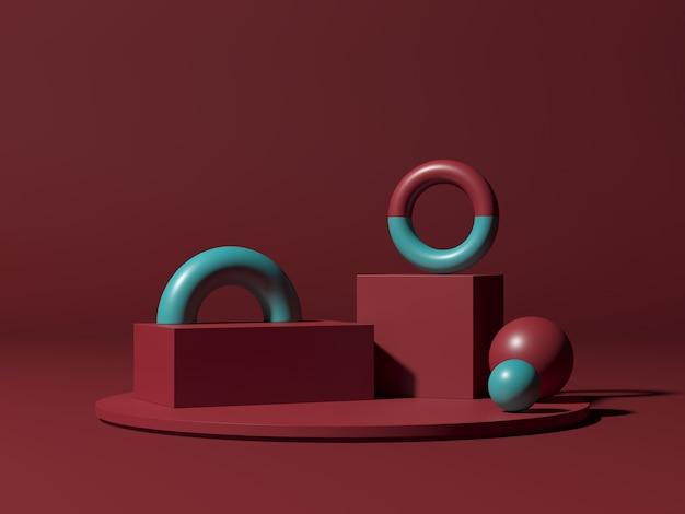 Abstracte achtergrond, mock-up scène voor productweergave.