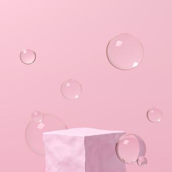 Abstracte achtergrond, mock-up scène voor productweergave